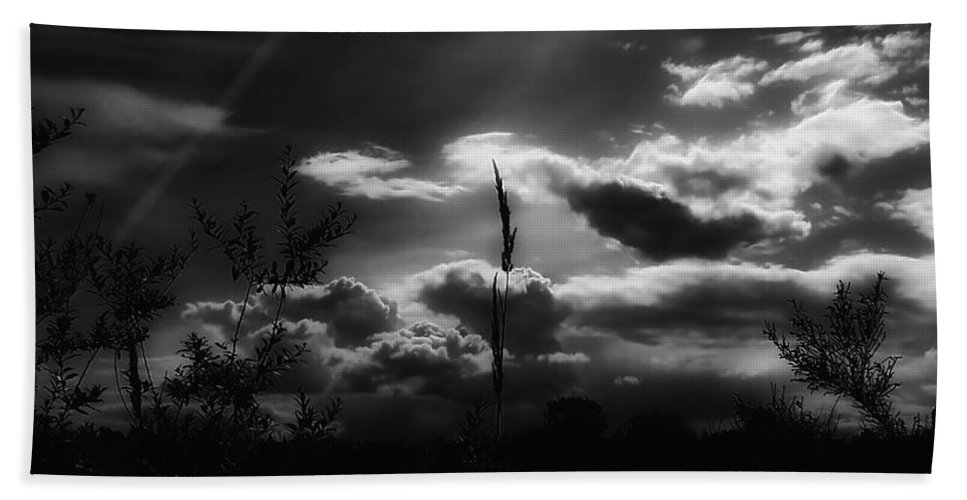Morning Beach Towel featuring the photograph Darkest Before The Dawn by Donna Blackhall