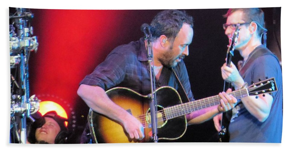 Dave Matthews Beach Towel featuring the photograph Dave And Stefan Jam by Aaron Martens