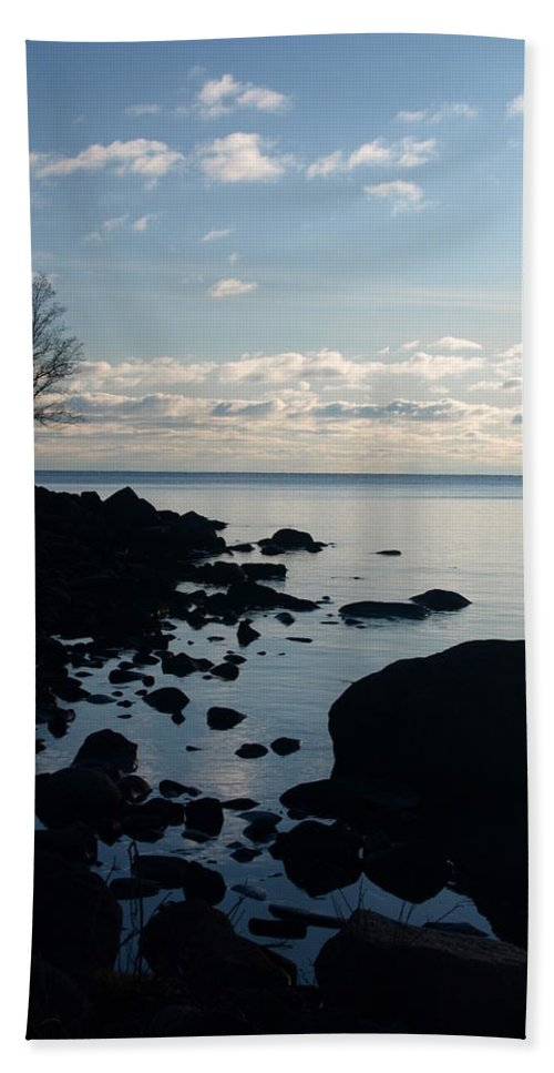 Jim Peterson Beach Towel featuring the photograph Dawn At The Cove by James Peterson