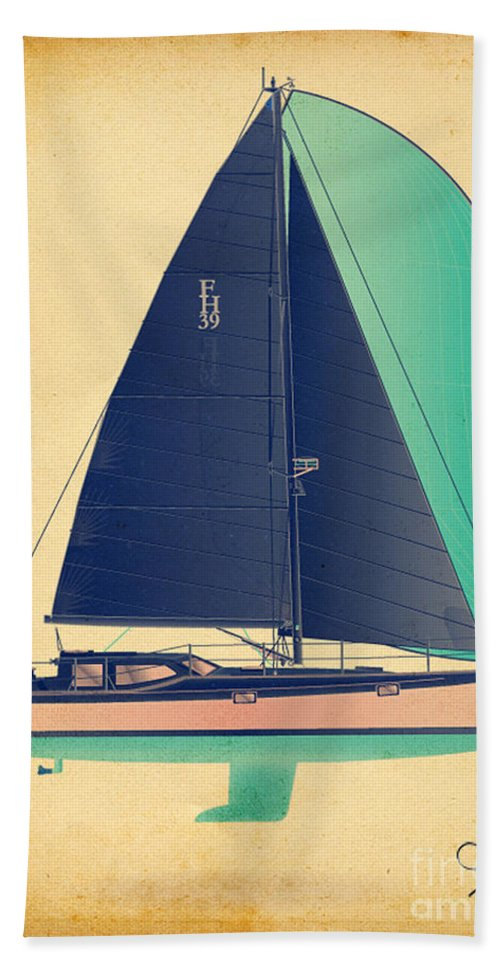 Regina Gallant Beach Towel featuring the drawing Day 39 by Regina Marie Gallant