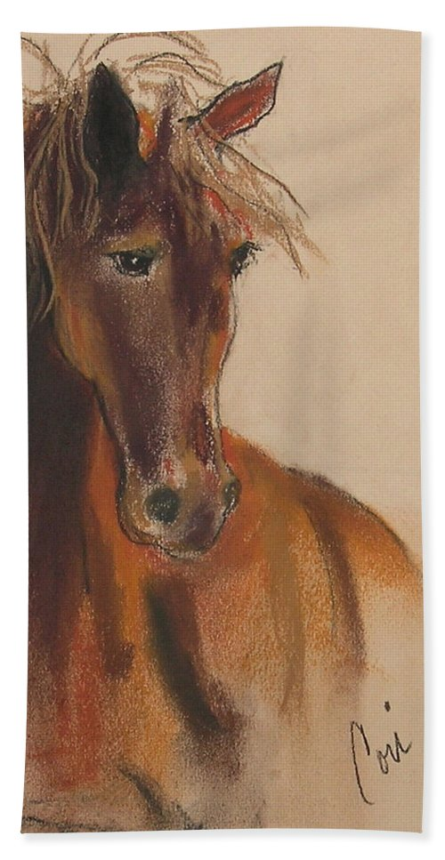 Horse Beach Towel featuring the drawing Day Dreamer by Cori Solomon
