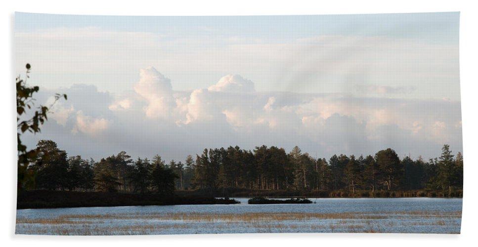 Wetland Beach Towel featuring the photograph Day Of Beauty by Linda Kerkau