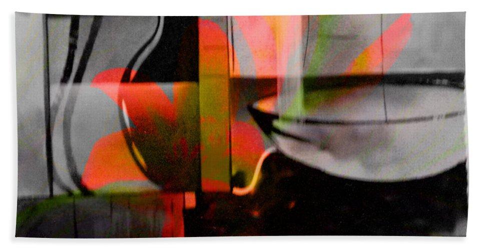 Digital Art Abstract Beach Towel featuring the digital art Decorative Design by Yael VanGruber