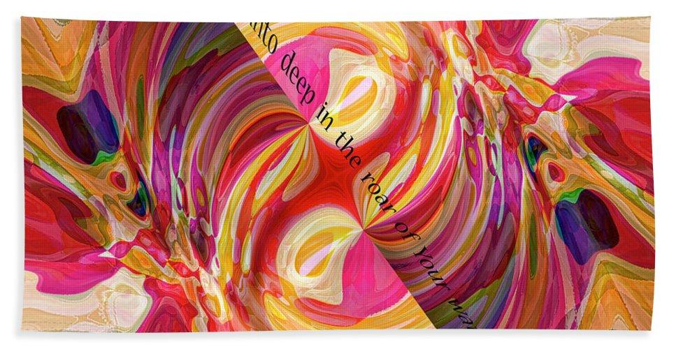 Abstract Beach Towel featuring the digital art Deep Calls Unto Deep by Margie Chapman