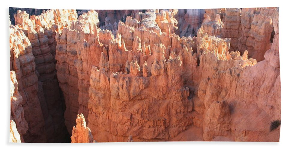 Canyon Beach Towel featuring the photograph Deep Canyon - Bryce Np by Christiane Schulze Art And Photography