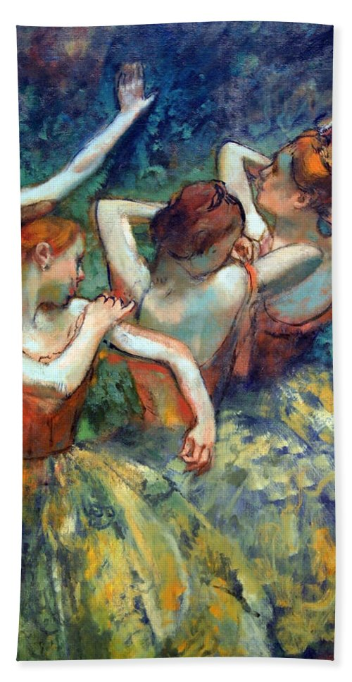 Four Dancers Beach Towel featuring the photograph Degas' Four Dancers Up Close by Cora Wandel