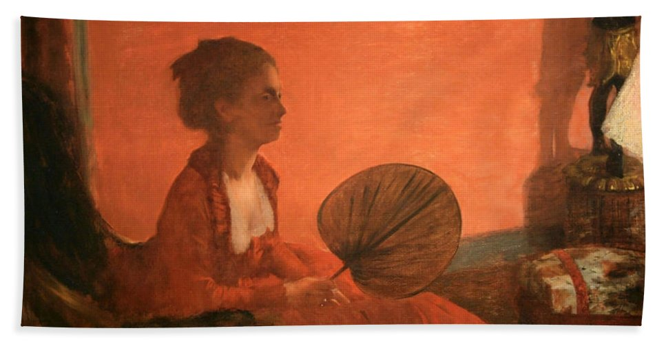 Madame Camus Beach Towel featuring the photograph Degas' Madame Camus by Cora Wandel
