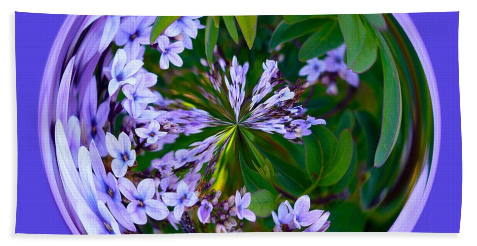 Orb Beach Towel featuring the photograph Delicate Flowers Orb by Brent Dolliver