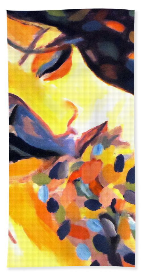 Painting Beach Towel featuring the painting Delight by Helena Wierzbicki