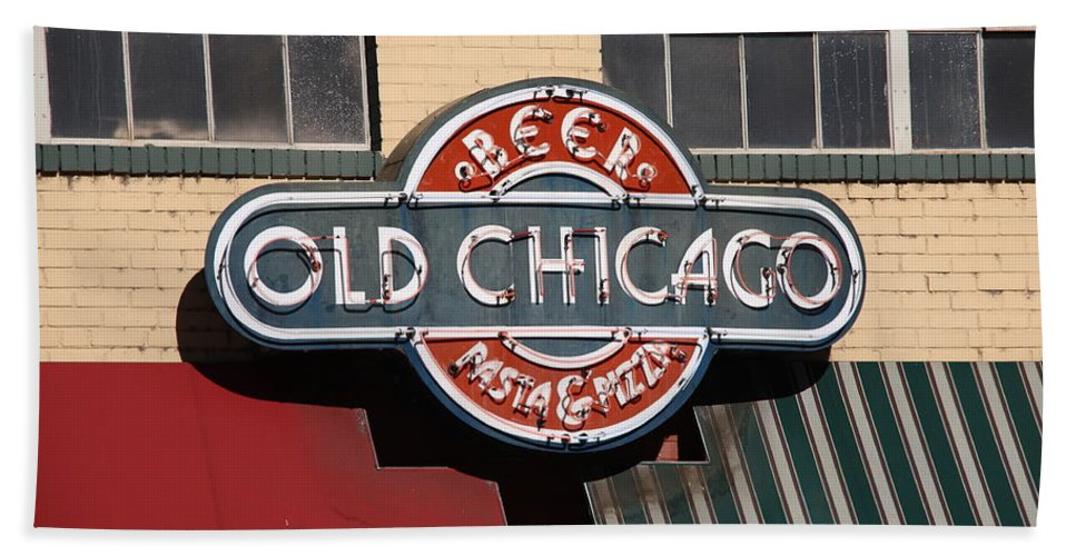 America Beach Towel featuring the photograph Denver - Old Chicago Beer by Frank Romeo