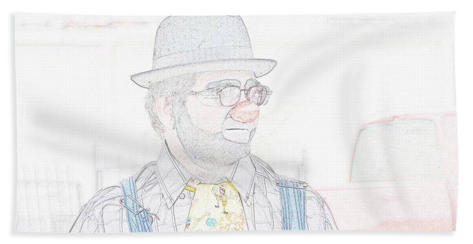 Clown Beach Towel featuring the photograph Derby Look by Darrell Clakley