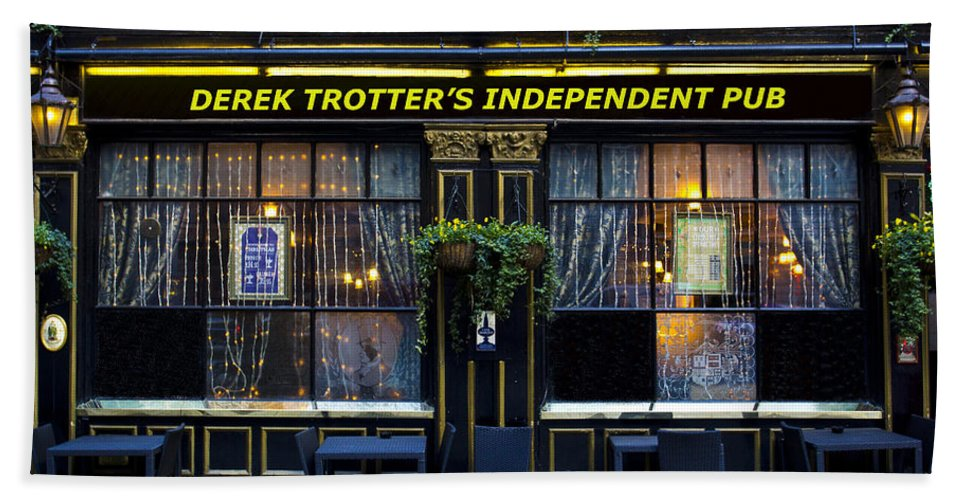 Only Fools And Horse's Beach Towel featuring the photograph Derek Trotter's Pub by David Pyatt