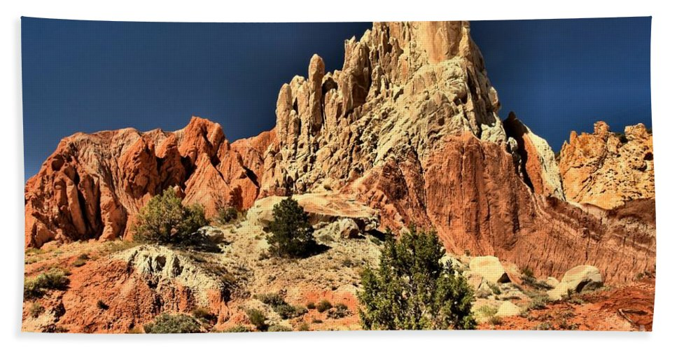 Cottonwood Road Beach Towel featuring the photograph Desert Rock Rainbows by Adam Jewell