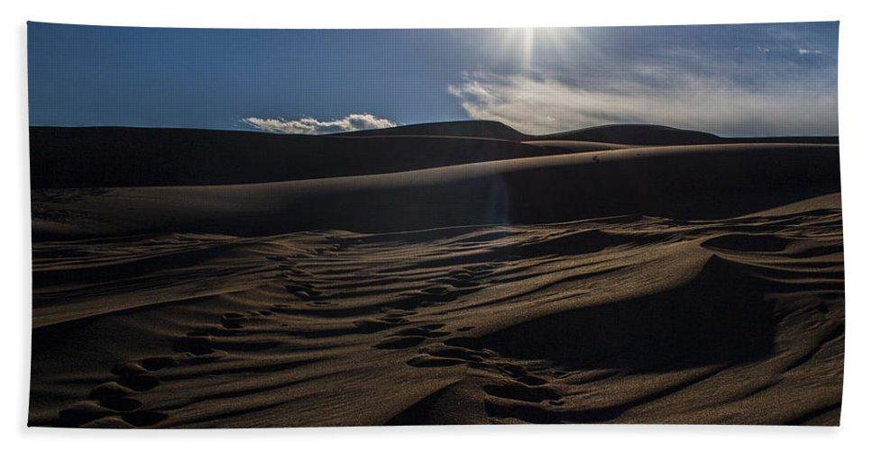 Outside Beach Towel featuring the photograph Desert Sun by Angus Hooper Iii