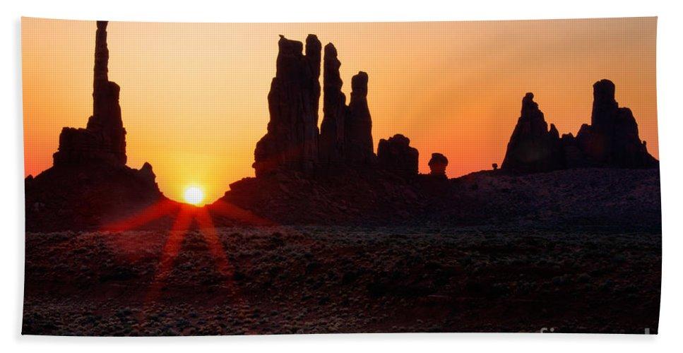America Beach Towel featuring the photograph Desert Sunrise by Inge Johnsson