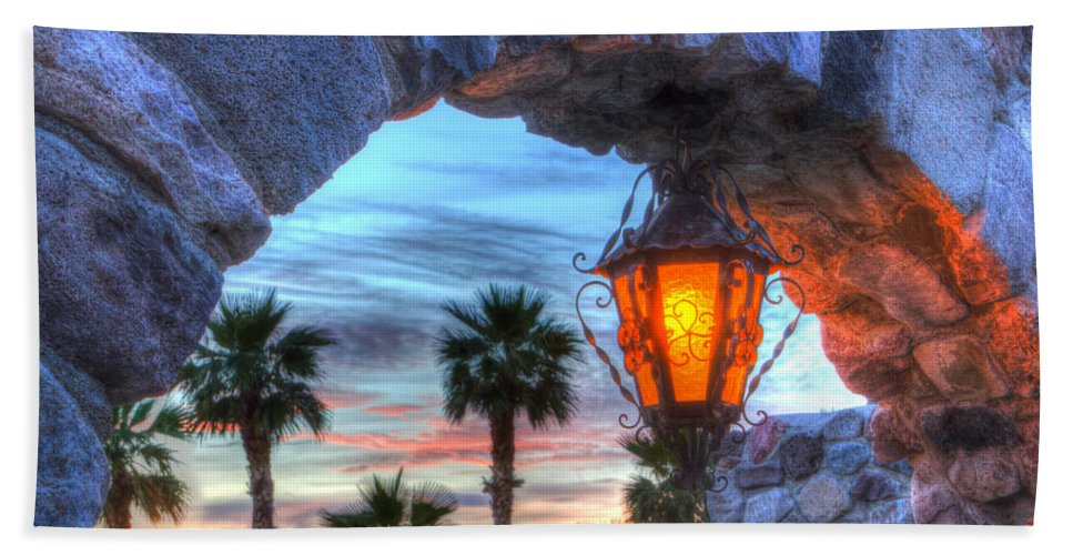 Death Beach Towel featuring the photograph Desert Sunset View by Heidi Smith