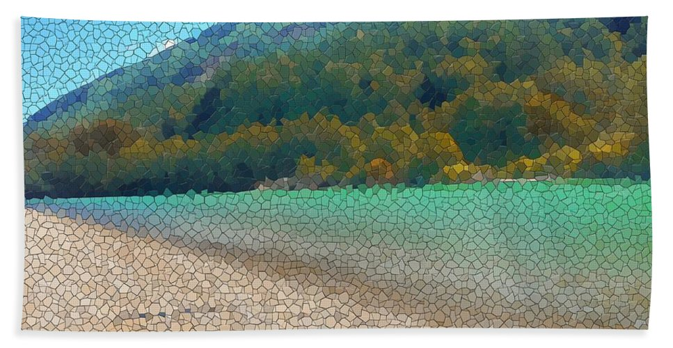 River Beach Towel featuring the photograph Diagonal by Marcello Cicchini