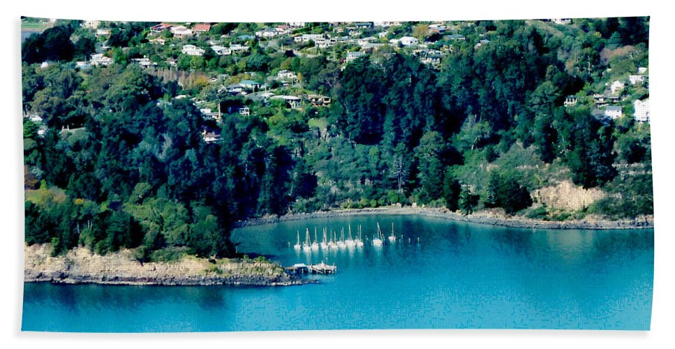 Banks Peninsula Beach Towel featuring the photograph Diamond Harbour by Steve Taylor