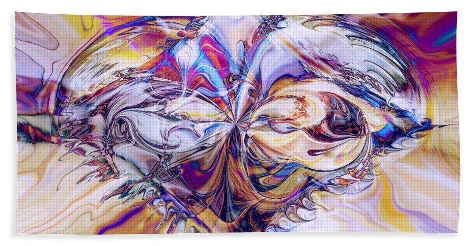 Diamond Heart Beach Towel featuring the digital art Diamond Heart by Linda Sannuti