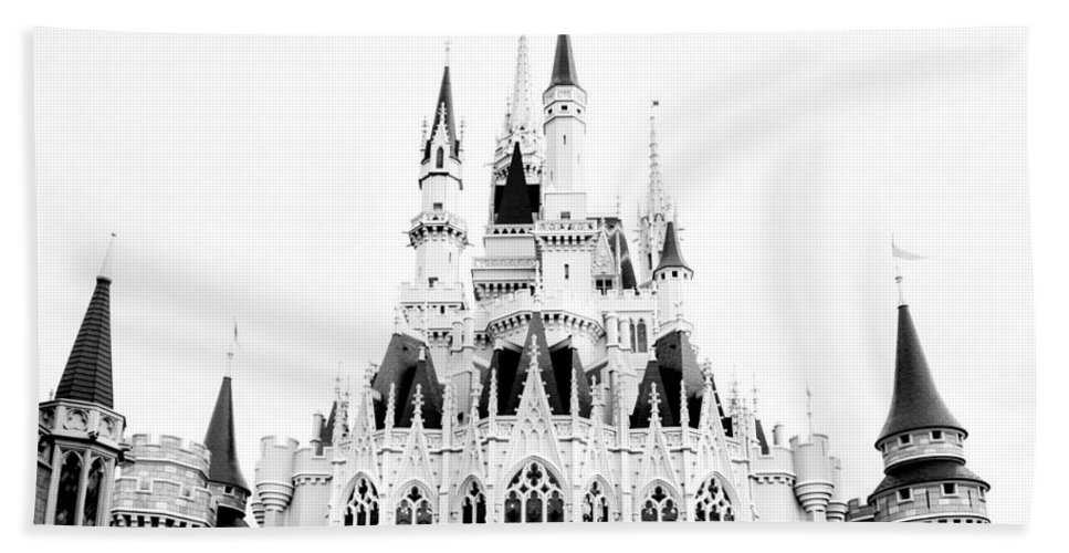 Castle Beach Towel featuring the photograph Disney Old School by Greg Fortier