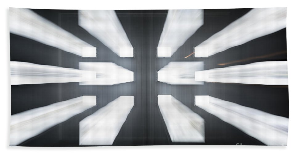 Window Beach Towel featuring the photograph Display Screens by Mats Silvan