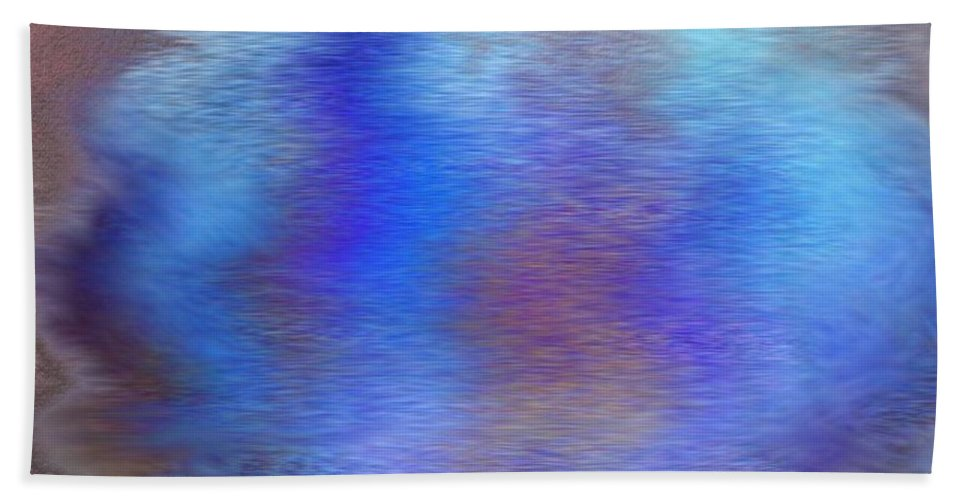 Water. Blue Beach Towel featuring the painting Distorted Waters by Frances Lewis