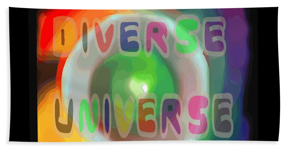 Diverse Beach Towel featuring the painting Diverse Universe by Pharris Art