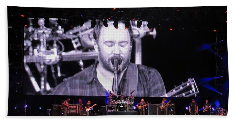 Dave Beach Towel featuring the photograph Dmb Live by Aaron Martens