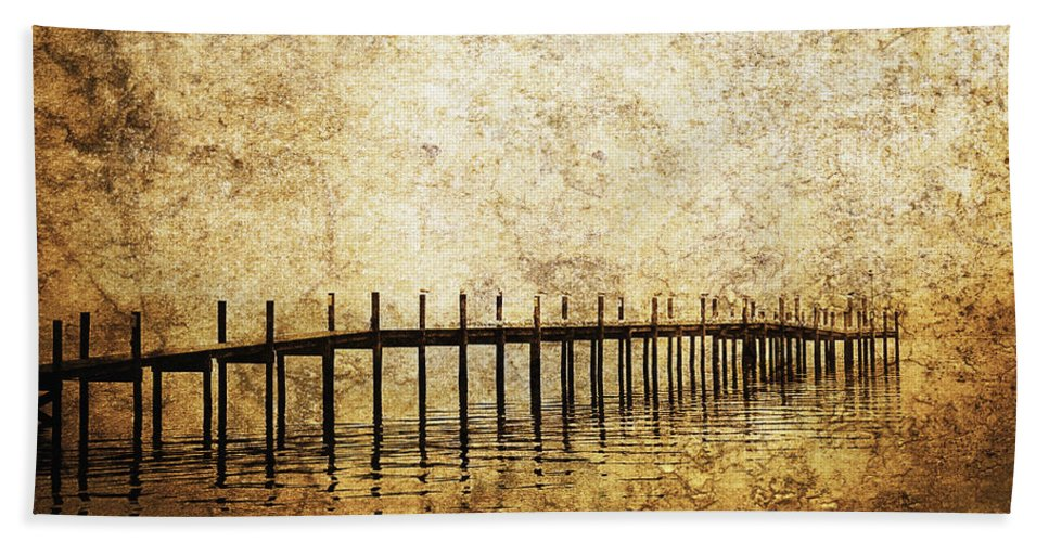 Pier Beach Towel featuring the photograph Dock by Skip Nall