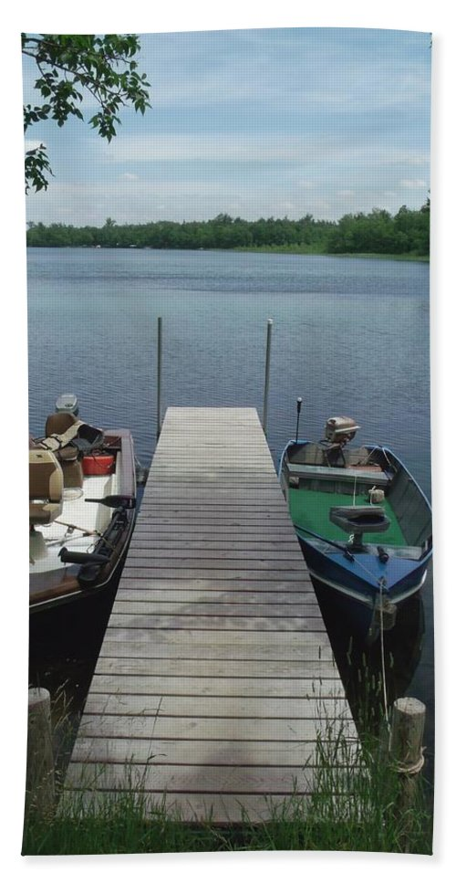 Lake Beach Towel featuring the photograph Docked by Jared Best