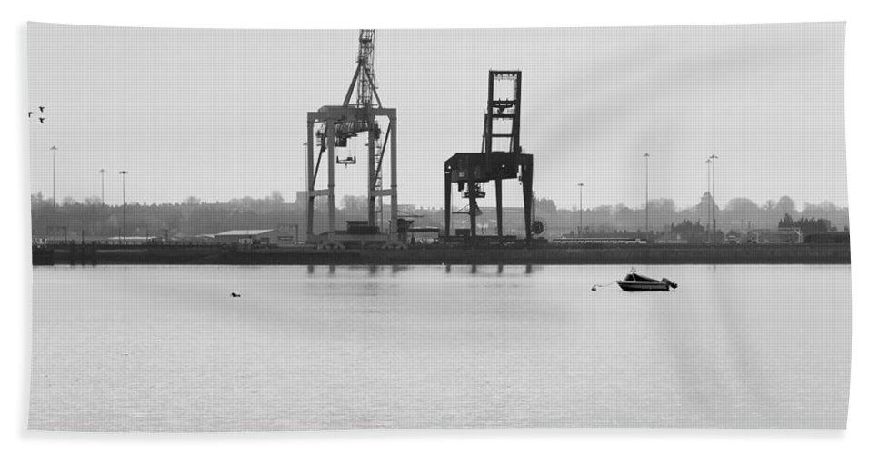 Bay Beach Towel featuring the photograph Docks by Svetlana Sewell