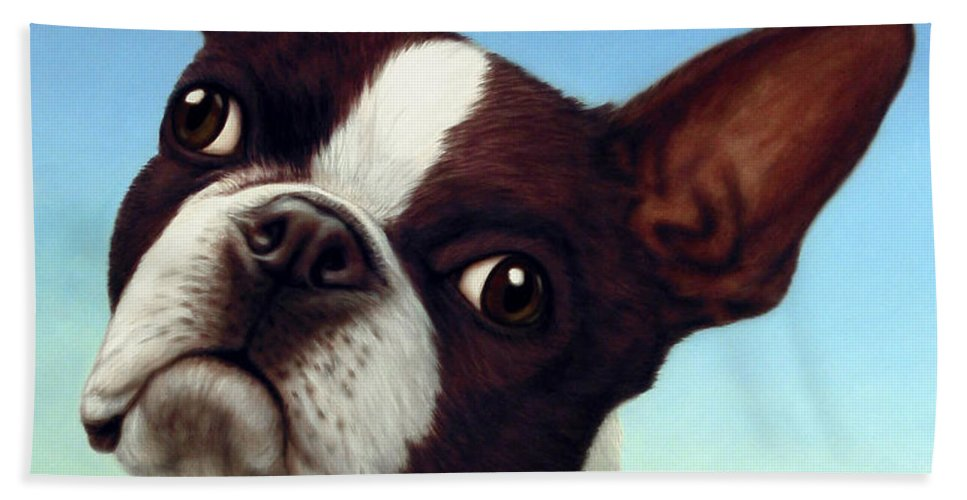 Dog Beach Towel featuring the painting Dog-Nature 4 by James W Johnson
