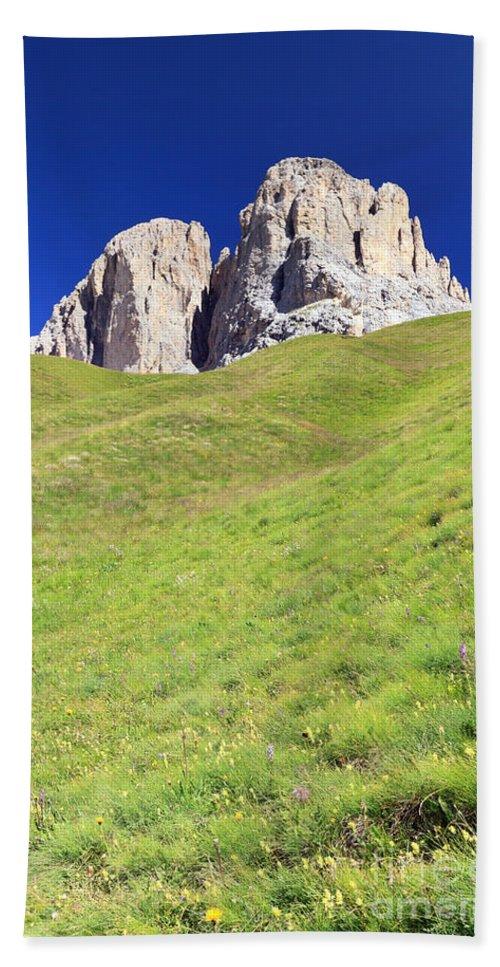 Alpine Beach Towel featuring the photograph Dolomites - Grohmann Peak by Antonio Scarpi