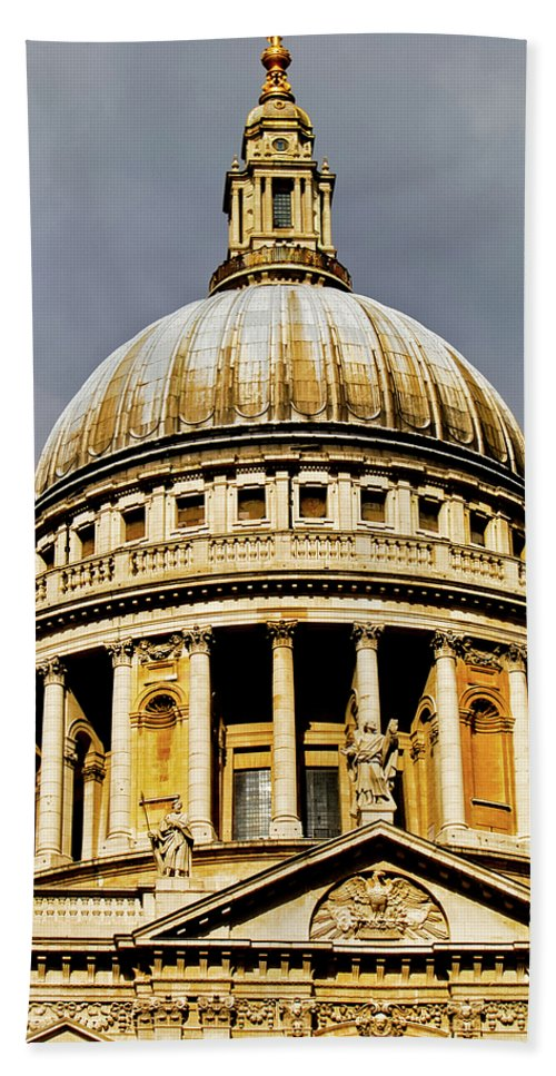 Britain Beach Towel featuring the photograph Dome Of St. Paul's Cathedral by Christi Kraft