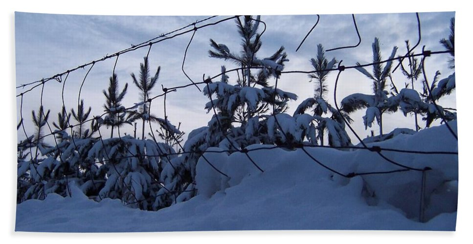 Winter Beach Towel featuring the photograph Don't Fence Me In by Brook Steed