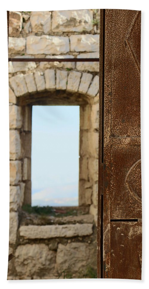 Old Beach Towel featuring the photograph Door And Window Of The Old World by Munir Alawi