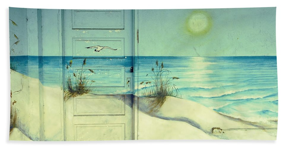 Architecture Beach Sheet featuring the photograph Door Of Perception by Skip Hunt