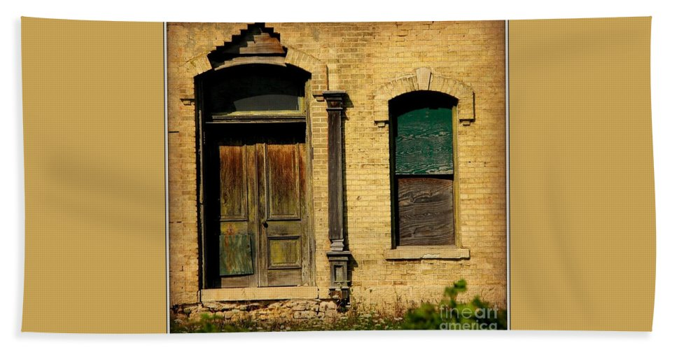 Doorway Beach Towel featuring the photograph Door To Nowhere by Beth Ferris Sale