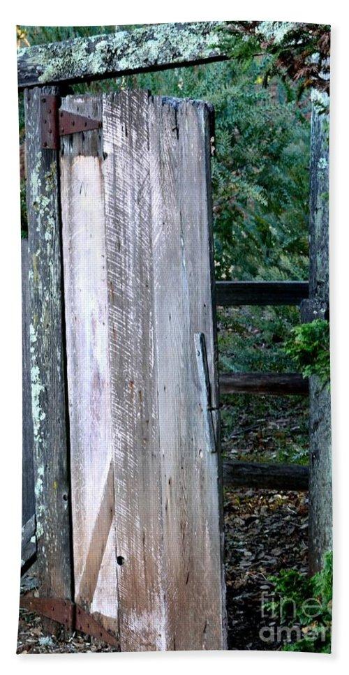 Old Door Beach Towel featuring the photograph Door To Nowhere by Beth Sanders