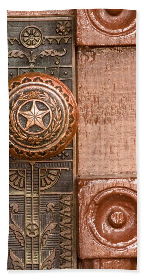 Door Beach Towel featuring the photograph Door To Texas State Capital by David and Carol Kelly