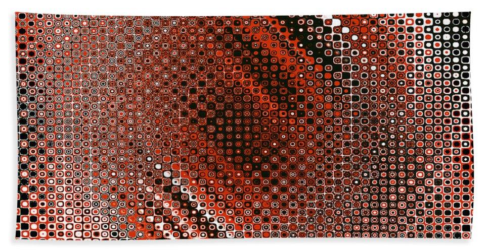 Dotty Beach Towel featuring the digital art Dotty by Kaye Menner