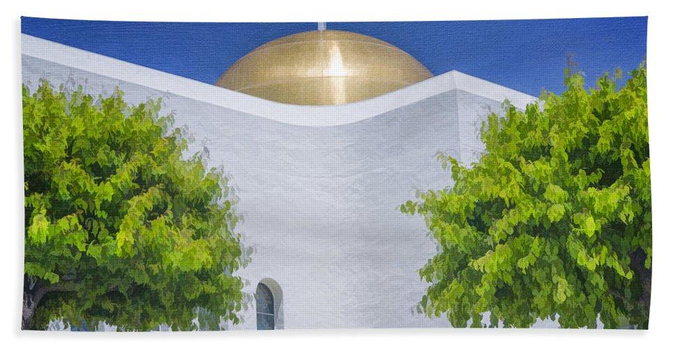 Church Beach Towel featuring the photograph Double Cross by Joan Carroll
