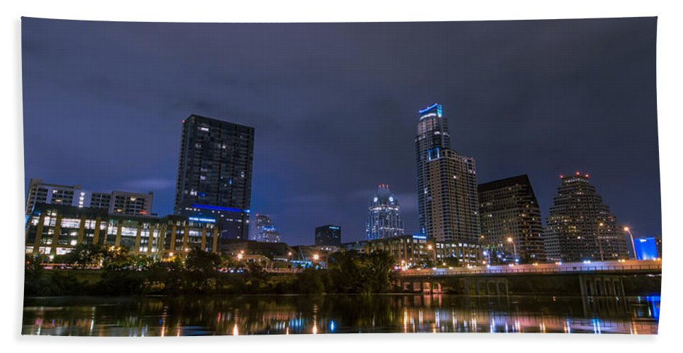 Austin Beach Towel featuring the photograph Downtown Austin by David Morefield