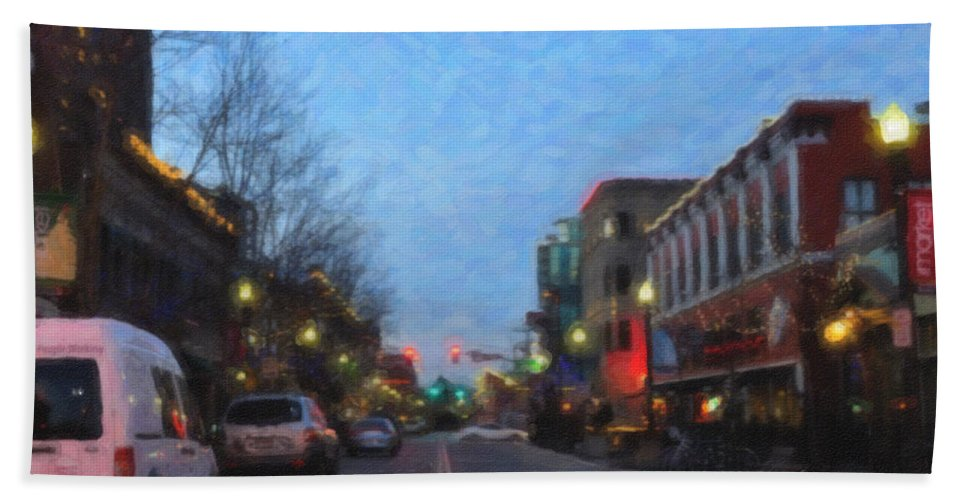 Boise Beach Towel featuring the photograph Downtown Boise by Image Takers Photography LLC