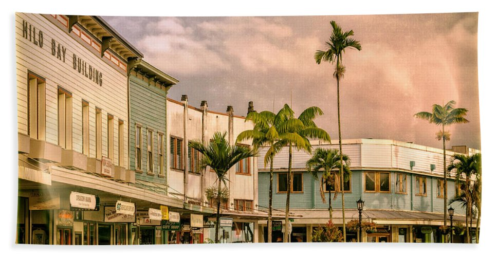 Hawaii Beach Towel featuring the photograph Downtown Hilo Sunday Morning by Dominic Piperata