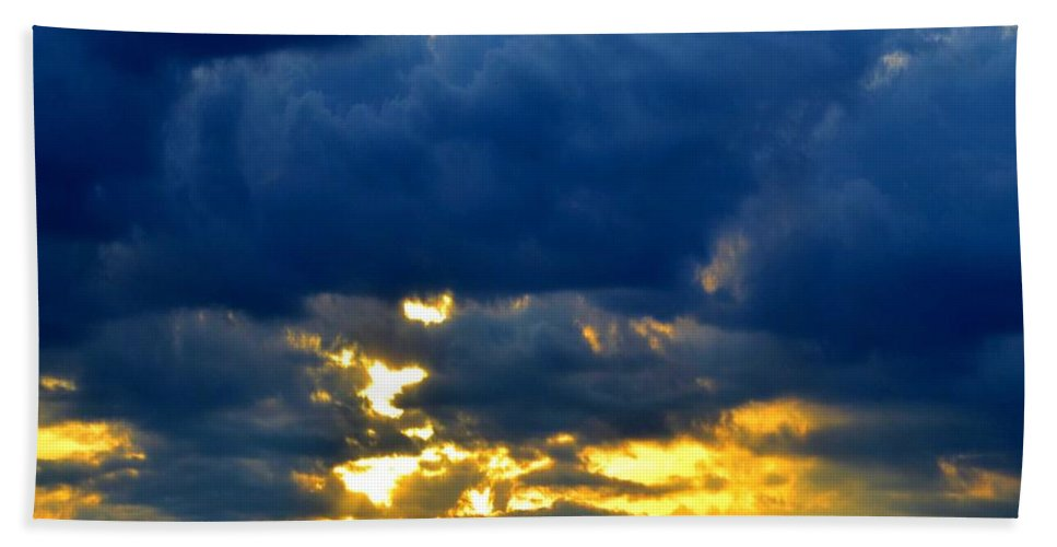 Dark Clouds Beach Towel featuring the photograph Dramatic Clouds by Luther Fine Art