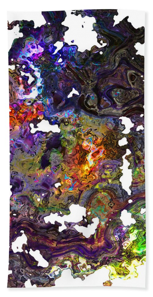 Abstract Beach Towel featuring the digital art Dream Fragments by Richard Thomas