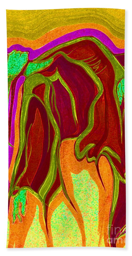 First Star Art Beach Towel featuring the mixed media Dream In Color 2 by First Star Art