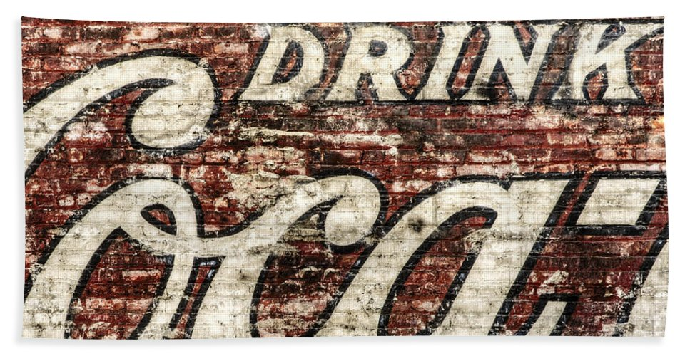 Red Beach Towel featuring the photograph Drink Coca-cola 2 by Scott Norris