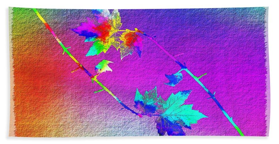 Tree Beach Towel featuring the digital art Duet In The Treetops by Tim Allen